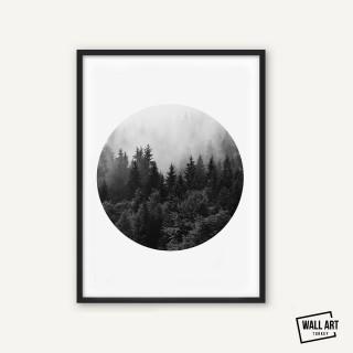 Circle Forrest Poster